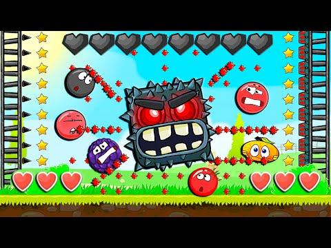 Красный Шар - мод на Супер БОССА на уровне ! Red Ball 4 mod 100 square шарик от Спуди   !