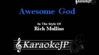 Awesome God (Karaoke) - Rich Mullins