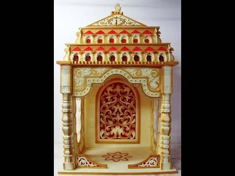 DIY -How to make Temple  || Diwali  Special ||Home made Tutorials ||