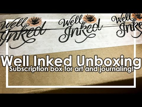 Well Inked Box unboxing and review-subscription for bujo and art!
