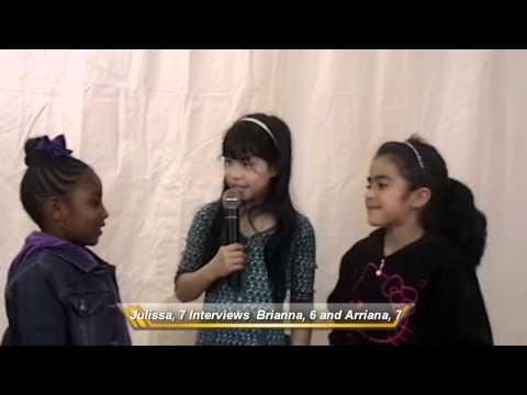 Julissa, 7 interviews Brianna, 6 and Arianna, 7