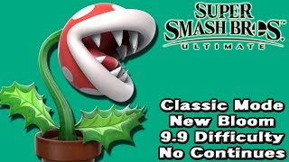 Super Smash Bros. Ultimate (Classic Mode 9.9 Intensity No Continues | Piranha Plant)