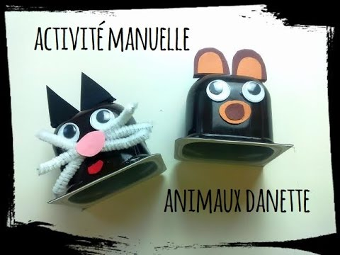 Diy animaux pot yaourt activit manuelle youtube - Activite manuelle decoration ...