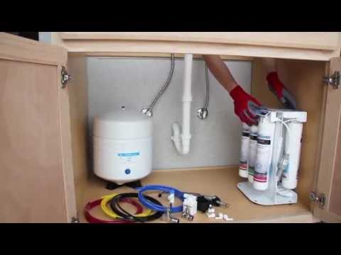 Boann Reverse Osmosis 5-Stage Water Filtration System Installation Video (HD)