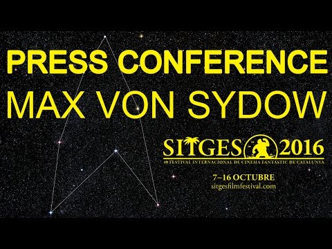 Sitges 2016: Press conference - Max von Sydow