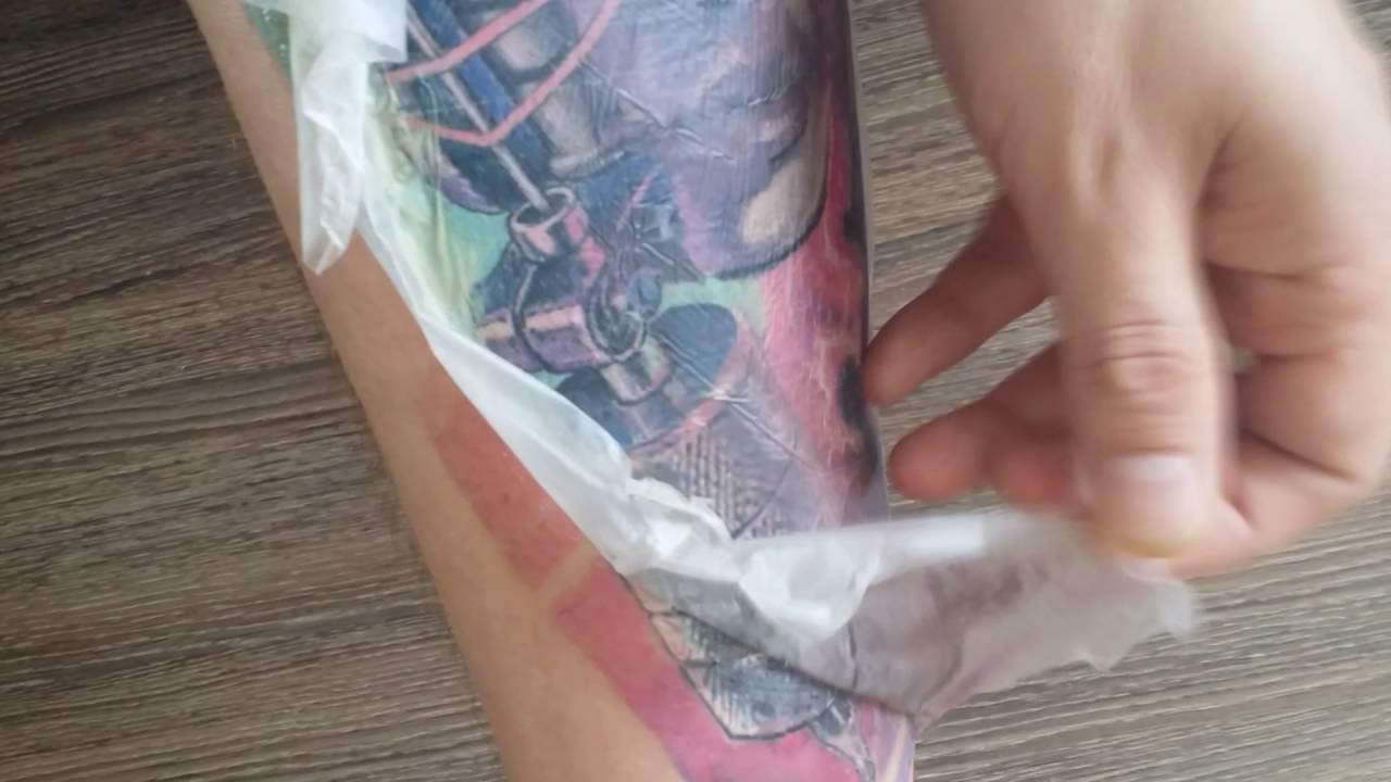 сколько носить пленку после тату когда можно снимать пленку с тату