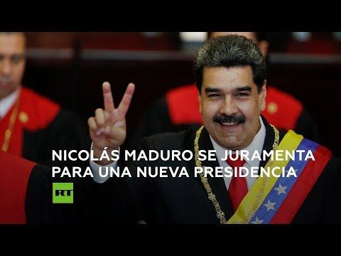 Juró Maduro e inicia segundo mandato: Nada justifica la agresión contra Venezuela