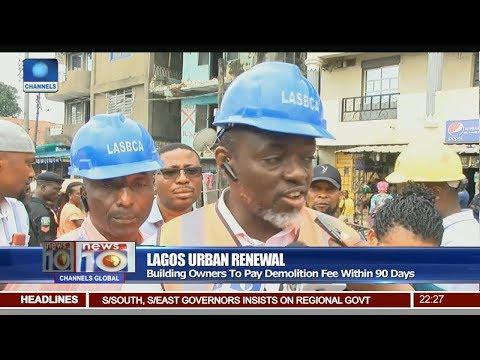 Lagos Govt Begins Demolition Of Distressed Buildings Pt 2 | News@10 |