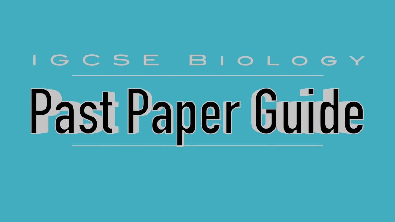biology past paper