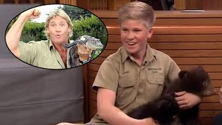 Robert Irwin Channels His Late Father Steve by Showing Off Exotic Animals on