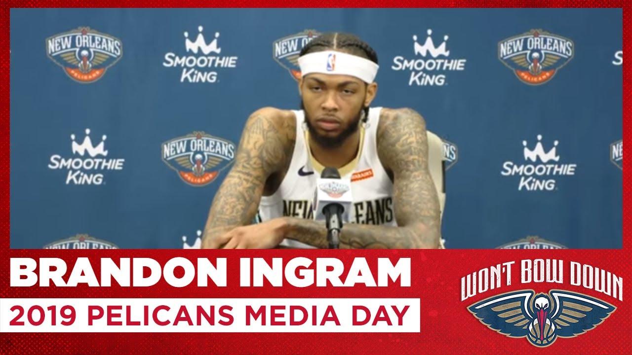 Brandon Ingram S 2019 Pelicans Media Day Interview New Orleans Pelicans