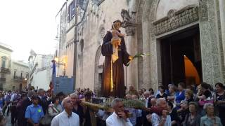 Sant'Antonio di Padova. L'uscita della processione. Galatina 12-6-2014