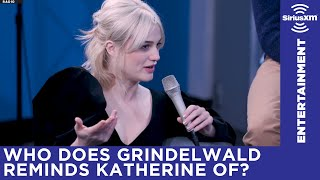 Grindelwald reminds Katherine Waterston of a certain president….