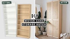 DIYing VIRAL PINTEREST HOME DECOR - Woven Cane Storage Bookcase (IKEA HACK)
