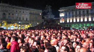 Pisapia riempie piazza Duomo