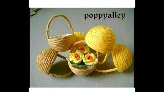 DIY : Paper Craft   Miniature Basket making at home