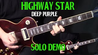 "how to play ""Highway Star"" by Deep Purple Ritchie Blackmore - guitar solo lesson Part 1"