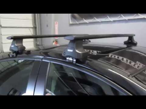 2012 Chevy Cruze With Thule 480R Traverse Black AeroBlade Roof Rack By Rack Outfitters