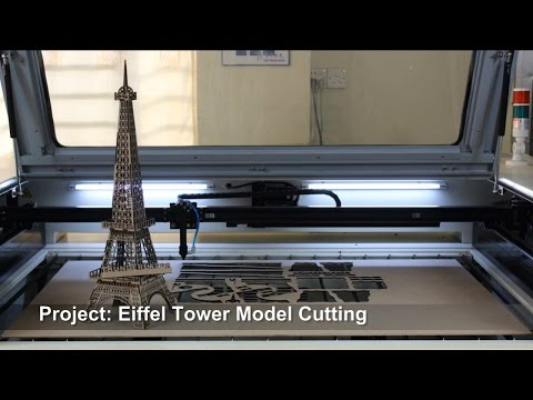 Laser cut the Eiffel Tower, laser cutting machine
