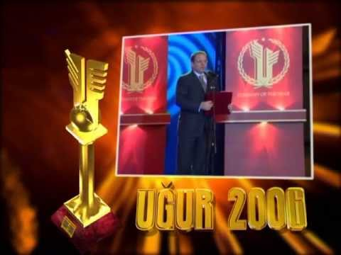 "Ali Evsen getting ""UGUR"" 2006 National Award in the field of economy and business"