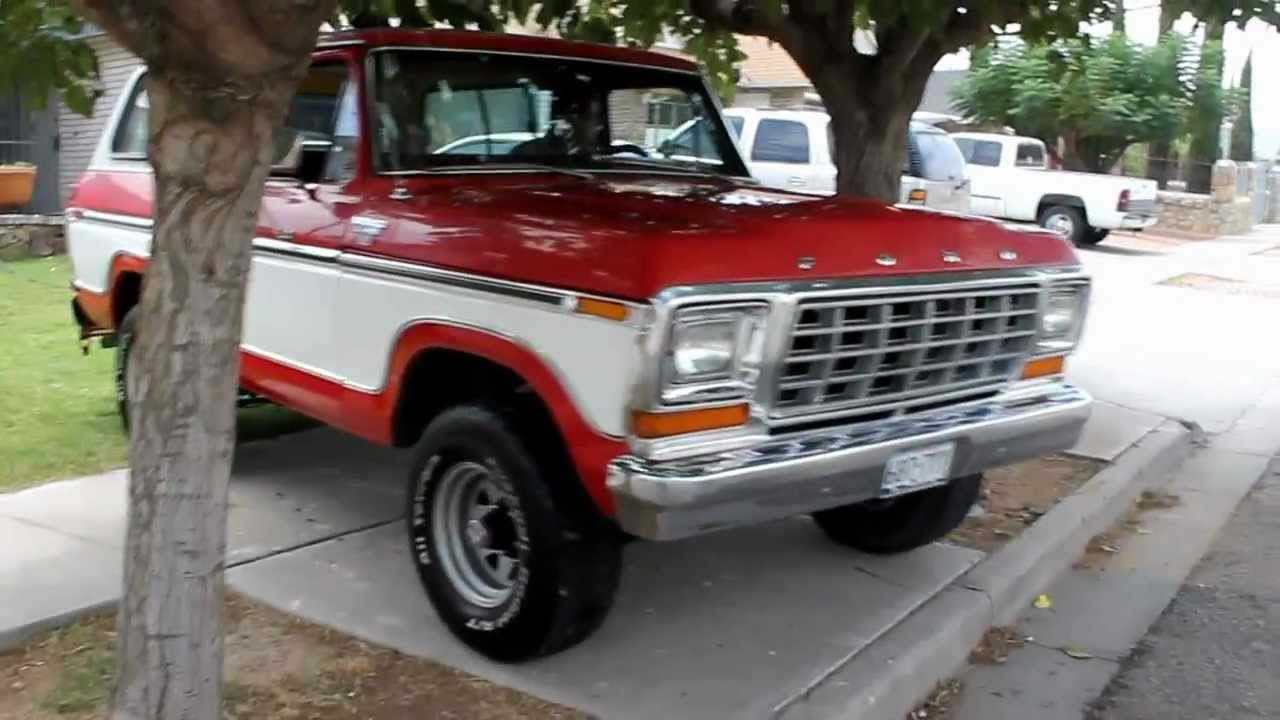 1979 Bronco 4x4 Red Youtube