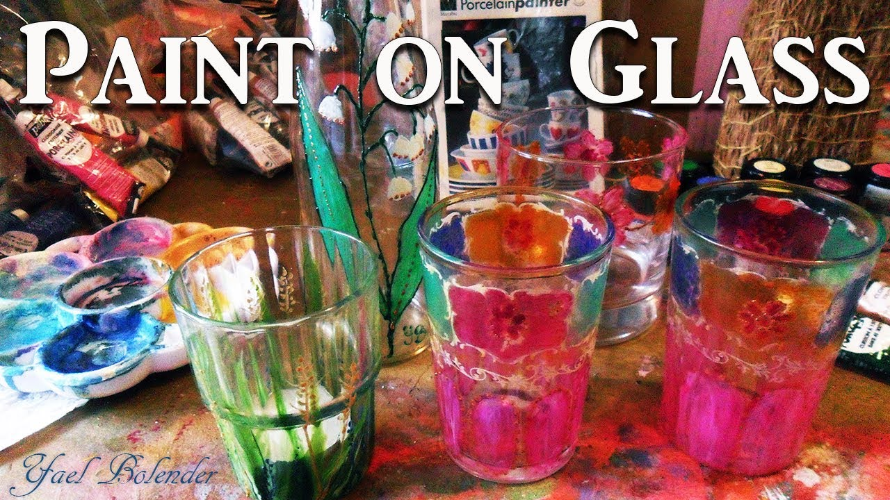 Recycling some glass by painting on it tips tricks for Glass painting tips and tricks