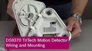 Bosch DS9370 TriTech Motion Detector Wiring and Mounting - YouTubeYouTube
