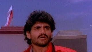 ANR Killed To Satyanarayana    Agni Putrudu Movie    ANR.Nagarjuna,Radha