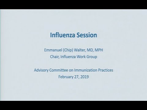 February 2019 ACIP Meeting – Influenza Vaccines