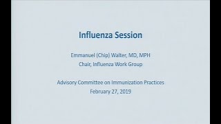 February 2019 ACIP Meeting - Influenza Vaccines
