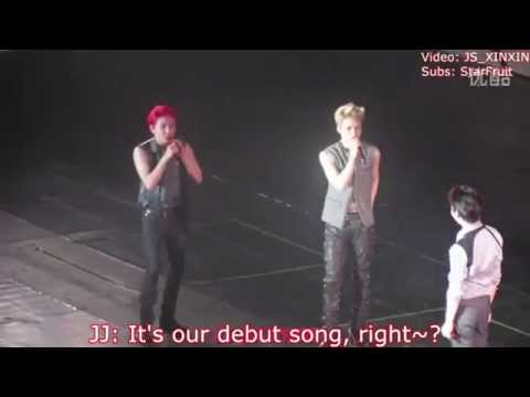 [Eng Subs+Analysis] 140823 JYJ - Hug & Mention DBSK