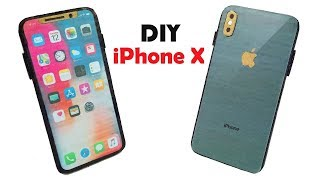 How to Make Phone from Cardboard - DIY Apple iphone