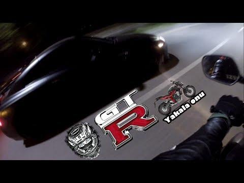 Ankara da Nissan GTR Yakalamak | Honda CB 650 F vs Nissan GTR