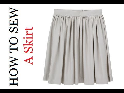 DIY: How to Sew a High Waist Pleated Skirt (Beginners) - YouTube