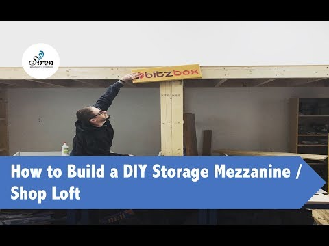 How to Build A DIY Storage Mezzanine / Shop Loft