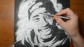 Drawing Tupac Shakur in Sugar