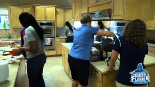 UWF Women's Basketball Volunteers at Ronald McDonald House