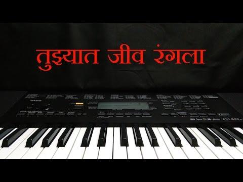 Tuzhat Jeev Rangala | तुझ्यात जीव रंगला | Instrumental on Keyboard