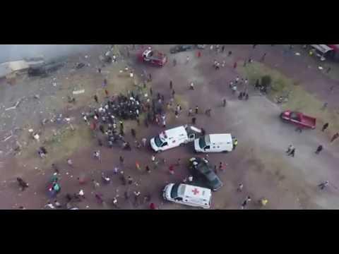 Explosión en mercado de cohetes de Tultepec. Con López Dóriga