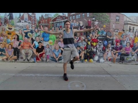 Guy Performs Amazing Dance Routine in 100 Different Places