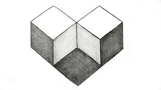 How to Draw Simple Geometry Shape Optical Illusion