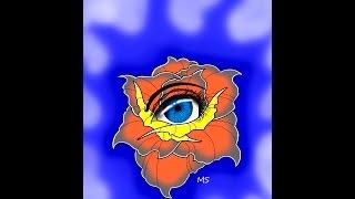 Как нарисовать эскиз цветок и глаз, рисуем на графическом планшете ваком(, 2014-11-07T04:54:45.000Z)
