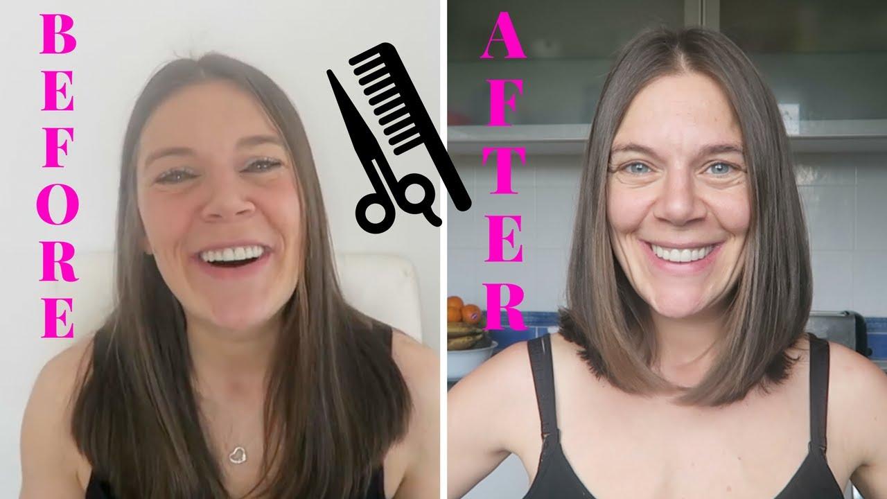 New Haircut Jennifer Aniston Style Bob Youtube