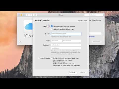 OS X Anleitung: Apple ID E-Mail-Adresse einrichten