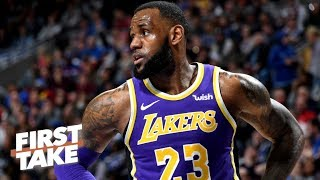 Is LeBron's first year with the Lakers already a disappointment? | First Take