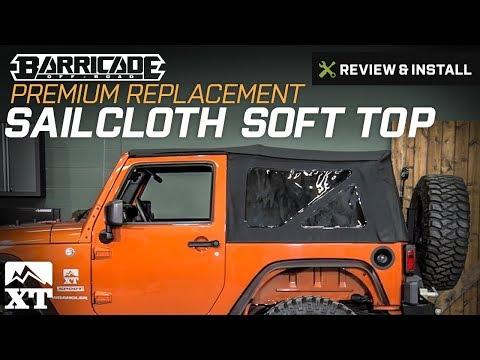 Jeep Wrangler Barricade Premium Replacement Sailcloth Soft Top (2007-2017 JK) Review & Install