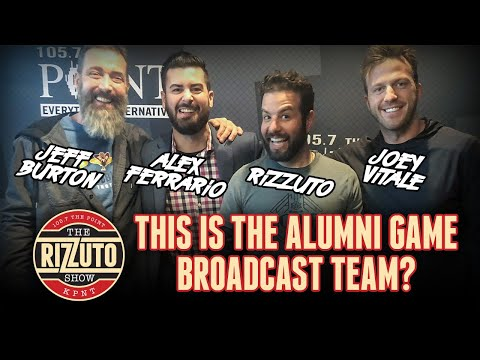 Meet the NHL Alumni Game broadcast team! Joey Vitale, Alex Ferrario, Rizz, Burton [Rizzuto Show]