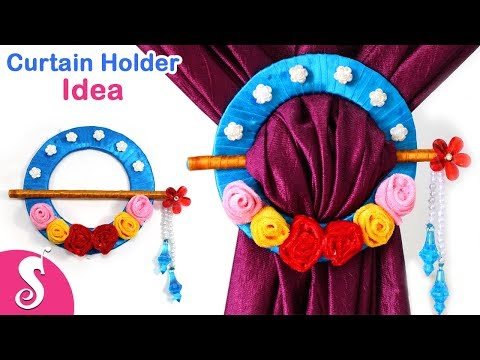 Curtain Holder Idea | Make Low Budget Curtain Tie Backs from Cardboard & Pencil | Sonali Creation