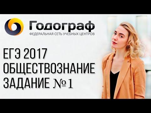 ЕГЭ по обществознанию 2017. Задание №1.