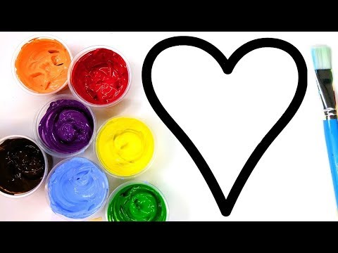 Painting Heart Sun Juice,  Painting Pages for Children to Learn Painting  💜 (4K)